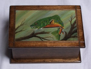 Brook Trout on wooden box