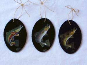 Trout Christmas Ornaments