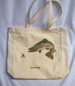 Rainbow Trout canvas tote