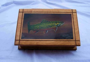 Brook Trout Painting on box