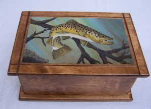 Brown Trout Painting on box
