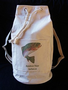 Rainbow trout duffle bag